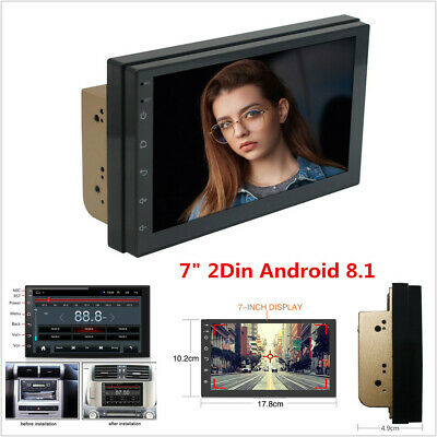 "7"" Android 8.1 4-Core 2Din Car GPS Navigation Stereo Radio Bluetooth Wifi 3G/4G"