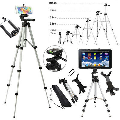 Professional Camera Tripod Stand Holder Mount for Phone iPhone Samsung Tablet PC