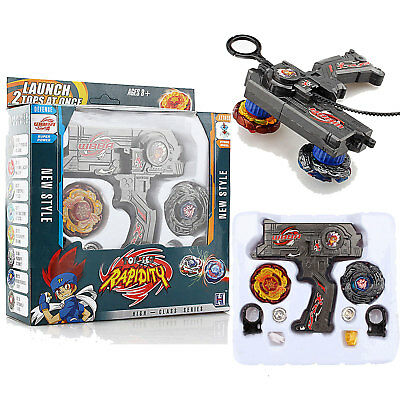 4D Metal Master Fusion Fight Top Game Rapidity Beyblade Battle Set Launcher Gift