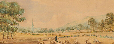 Two 19th Century Watercolours - Season Landscapes