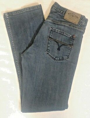 4bb5e04f Elwood womens Jeans Straight Leg Size 32 Stretch medium wash blue denim
