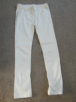 Next girl's pastel yellow summer jeans - Age 11
