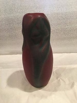 "Vintage Van Briggle Clover Pottery Vase, Mulberry, 6"" Tall Late Teens Early 20'S"