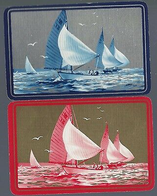 Vintage Playing Swap Cards  Yachts Racing