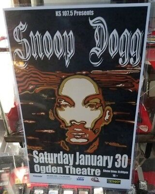 Snoop Dogg Poster Late 2000'S Vintage 11 X 17 In Hard  Top Loader Concert Board