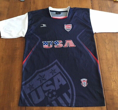 e79e8f8b0 Mens DRAKO USA SOCCER JERSEY Embroidered Patch BLUE RED WHITE One Size