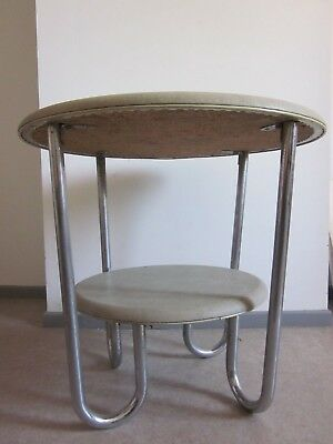 Table basse industrielle fer chrome 1960 vintage France