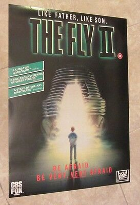 THE FLY II British Video release poster