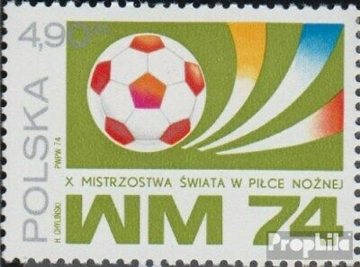 Poland 2328 (complete issue) fine used / cancelled 1974 football WM