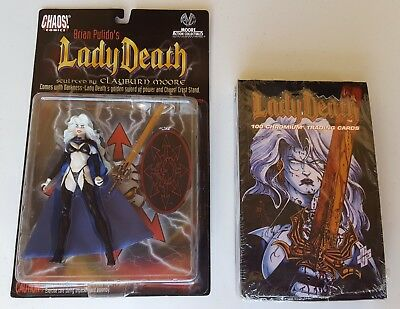 1994 Sealed Lady Death Chromium Trading Cards Brian Pulido's 1997 Action Figure