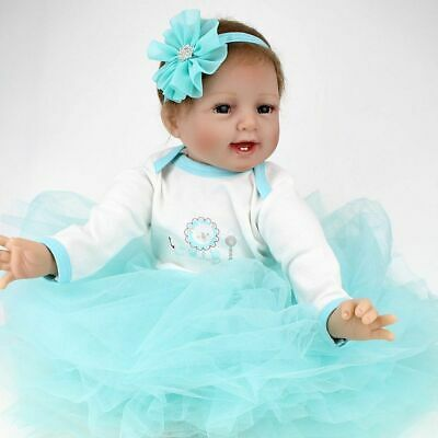 Vinyl Silicone Reborn Doll Real Life Like Looking 22inch Newborn Baby Dolls Gift