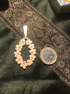 Antique Carved Bone Pendant Unusual