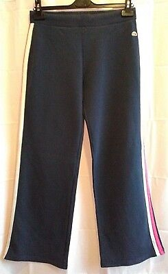 Women's Ellesse Tracksuit Bottoms Navy Size 12 Stretchy Fit Elasticated Waist