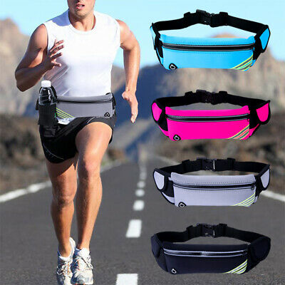 Gym Fitness Sport Runner Waist Bum Bag Running Jogging Belt Pouch Zip Bag Unisex