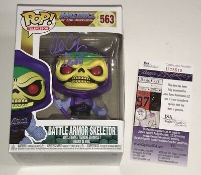 ALAN OPPENHEIMER Signed POP Vinyl Funko Toy MASTERS OF UNIVERSE Skeletor JSA COA