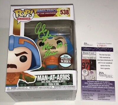 ALAN OPPENHEIMER Signed POP Vinyl Funko MASTERS OF UNIVERSE Man At Arms JSA COA