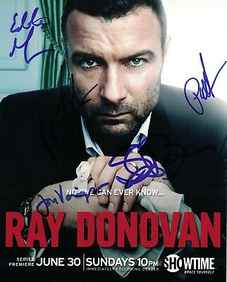 Jon Voight RAY DONOVAN Cast x5 Signed 8x10 Photo In Person Autograph