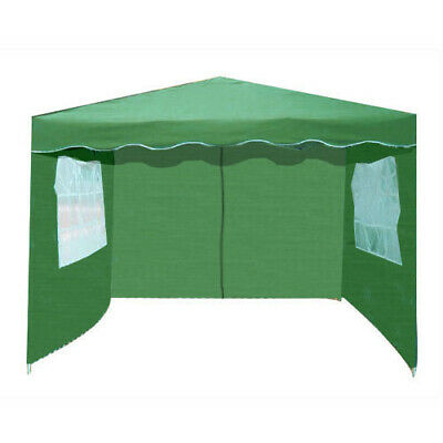PACK OF 3 VOCHE® GREEN 3m x 3m GARDEN GAZEBO REPLACEMENT SIDE WALLS PANELS SET