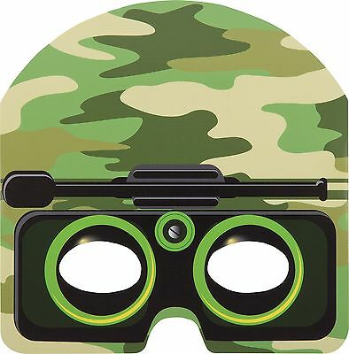 Camo Army Party Masks, Camo masks, Military Army Party Masks