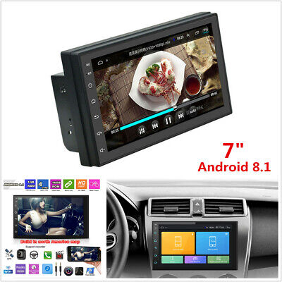 "7"" Android 8.1 Quad-Core 2Din Car Stereo Radio GPS WiFi 3G 4G BT DAB Mirror Link"