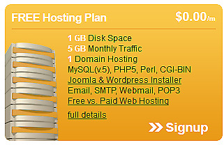 Free Web Hosting for life  -$1.29 One time setup fee