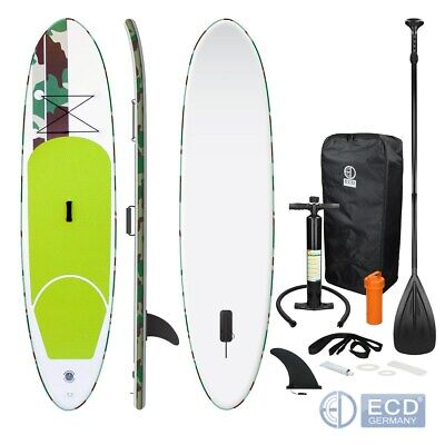 10FT SUP inflatable stand up surfing board soft surf paddle board green colour