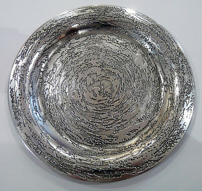 Don Sheil Australia Textured Swirl Metal Ware Plate / Small Tray - 25cm