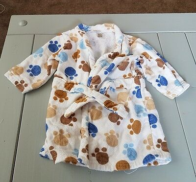 Baby Boy Dressing Gown 0 - 9 Months