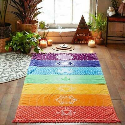 Yoga Towel Rainbow Microfiber Mat Towels Non Slip Super Sweat Absorbent Towel