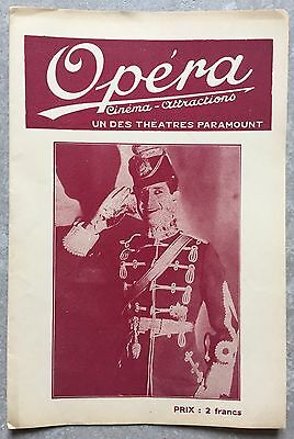 Programme CINEMA OPERA Reims PARADE D'AMOUR Love Parade MAURICE CHEVALIER 1930