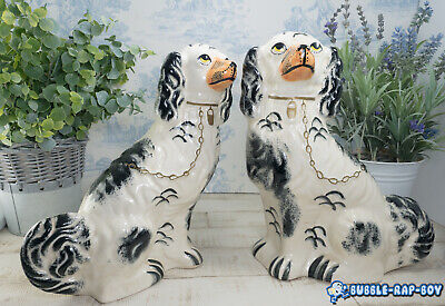 Wally Dogs Victorian Staffordshire Spaniels Pair Of