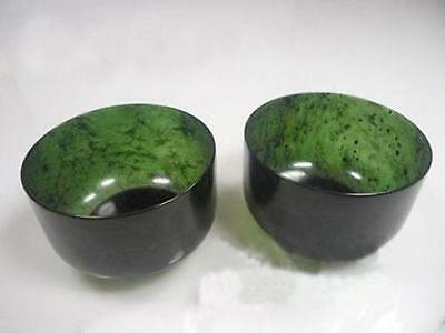 2PCS China Natural Exquisite Hand-carved Chinese Hetian Jade - Jade bowl