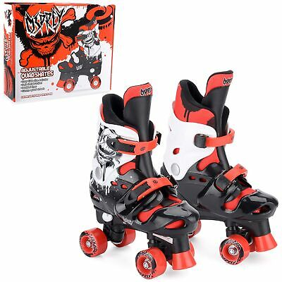 Osprey Boys Quad Skates - Adjustable Roller Skates - Multiple Sizes - Red