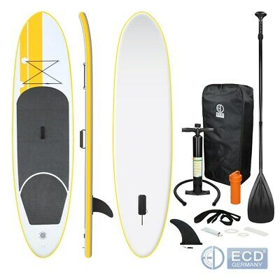 Surfboard stand up paddle 120kg 308cm jaune gonflable avec rames pompe à air sac