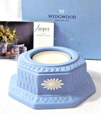 Wedgwood Blue Jasper T-Light Candle Holder Boxed Made in England