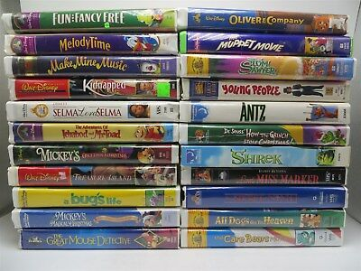 5 VHS MOVIES Children's Lot- Jungle Book, Air Bud, Muppets, Soccer