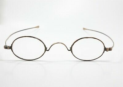 Antique 19c Solid Yellow Gold Spectacles Eyeglasses