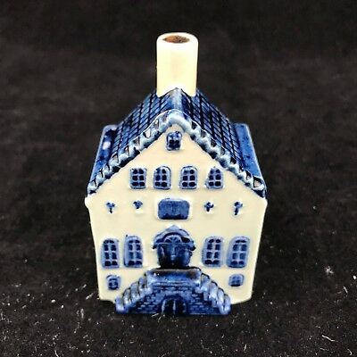 Vintage Delft Ceramic Building Church / House / School Hand Painted 7.5Cm Approx