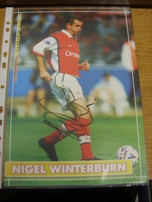 1999/2000 Autographed Magazine Picture: Arsenal - Winterburn, Nigel. If this ite