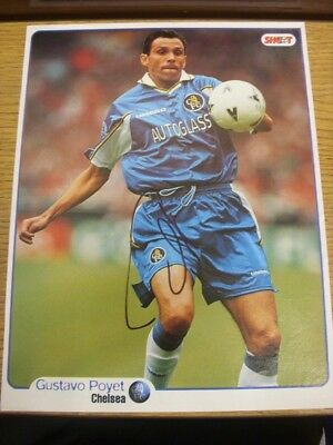 1997/1998 Autographed Magazine Picture: Chelsea - Poyet, Gustavo. If this item h