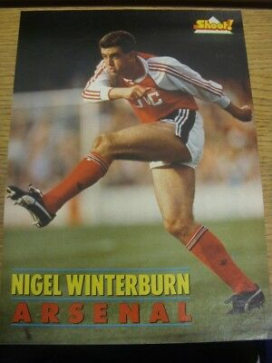 1989/1990 Autographed Magazine Picture: Arsenal - Winterburn, Nigel. If this ite