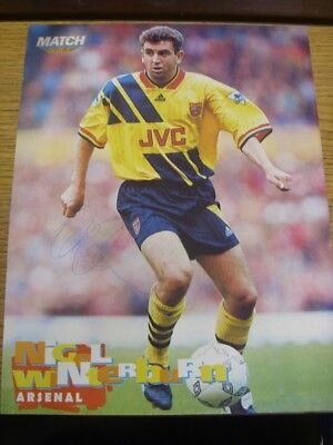 1993/1994 Autographed Magazine Picture: Arsenal - Winterburn, Nigel (Away Kit, M
