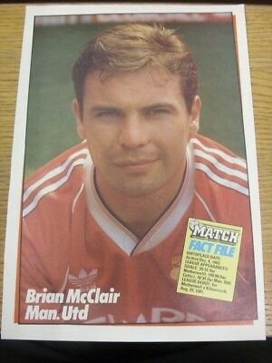 1989/1990 Autographed Magazine Picture: Manchester United - McClair, Brian. If t