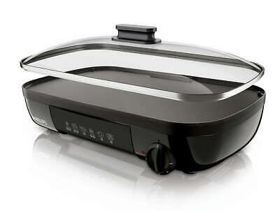 PHILIPS Daily Collection HD6323/20 Tischgrill 2000W gerippte Grillplatte
