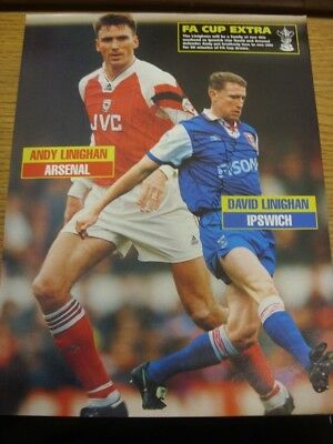 06/03/1993 Autographed Magazine Picture: Arsenal - Linighan, Andy & Ipswich Town