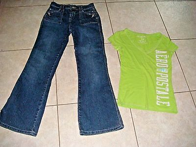 P.S. aeropostale jeans shirt top arizona girls clothes outfit lot set small 16