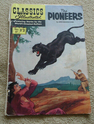 Vintage Classics Illustrated #37 The Pioneers HRN 129 British edition
