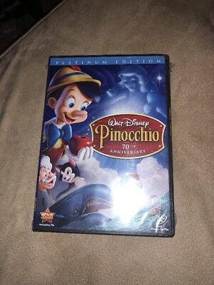 Pinocchio DVD 2009 2-Disc 70th Anniversary Platinum Edition DVD / CD Authentic