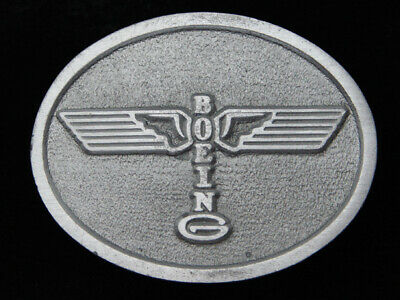 QF15134 VINTAGE 1970s **BOEING** AIRCRAFT COMPANY PEWTER BELT BUCKLE