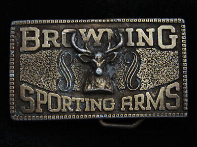 PI03107 VINTAGE 1970s **BROWNING SPORTING ARMS** GUN & FIREARM COMPANY BUCKLE